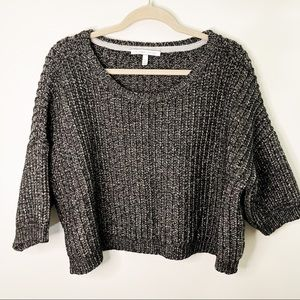 Victoria's Secret Chunky Knit Gray Cropped Sweater